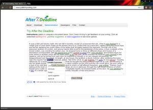 After the Deadline screenshot