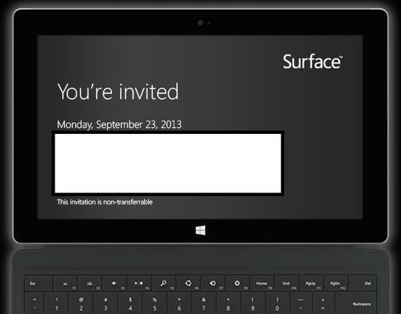 Surface 2 invitation
