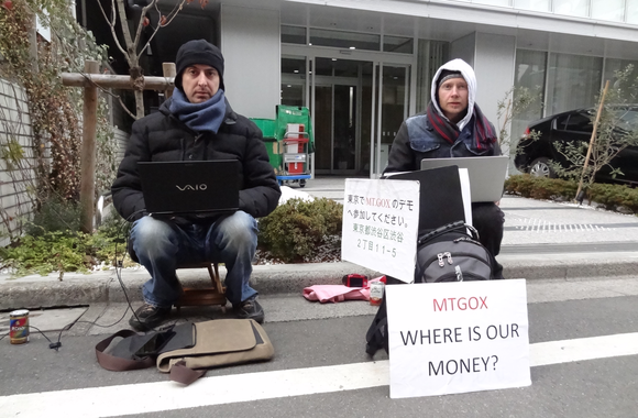 mt gox bitcoin protest
