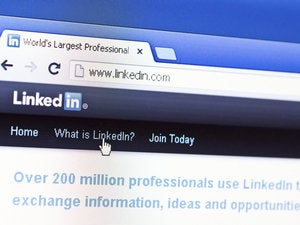 LinkedIn screen