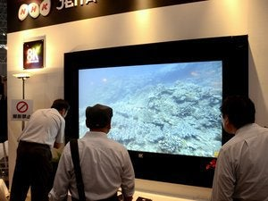 NHK's 8K display at NAB 2014