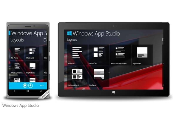 windows app studio universal