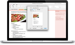 OneNote for Mac updated