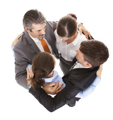 business huddle