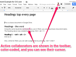 Google Drive live collaboration