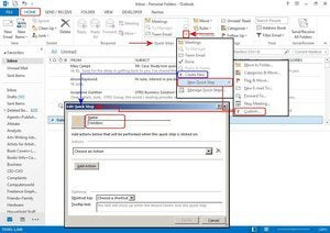 microsoft outlook f3 create quick step