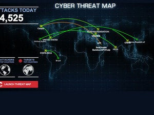 FireEye cyber attack map