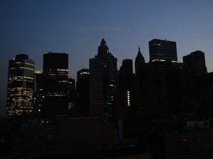 Blackout, New York City skyline