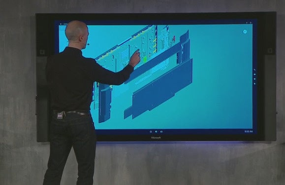 Microsoft Reveals Surface Hub An 84 Inch 4k Touchscreen