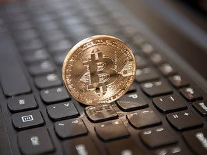 bitcoin on keyboard