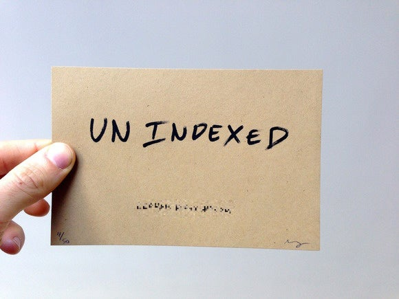 Unindexed: The website that was built for Google to destroy
