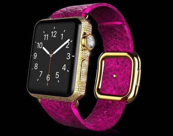 goldoldgenie apple watch pink python