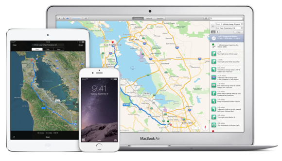 apple maps ios 8