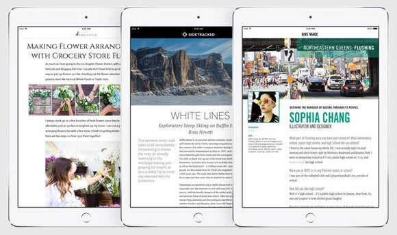 news app assembles layouts on the fly