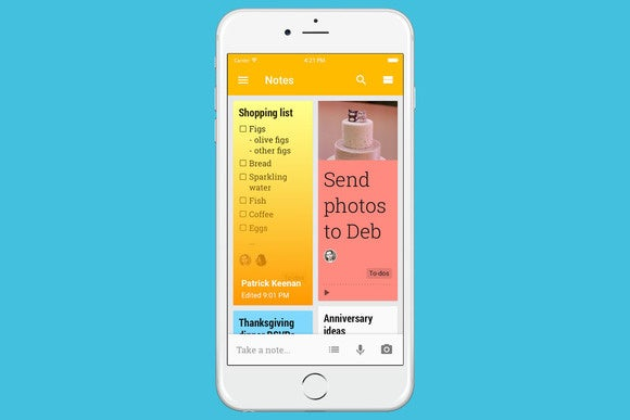 Google Keep for iOS