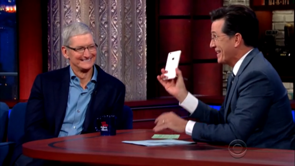 tim cook stephen colbert