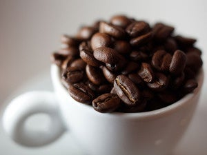 coffee beans java cup