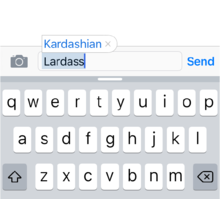 Apple's autocorrection of lardass doesn't make any Kardashian the butt of a crude joke