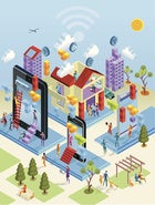 illustration of internet of things city