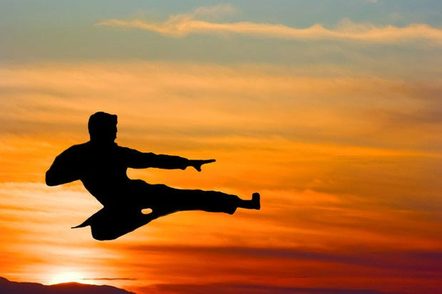 karate kick sunset martial arts fight fighter