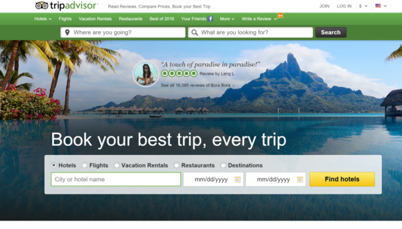 tripadvisor web site