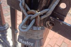 padlock and chain, security