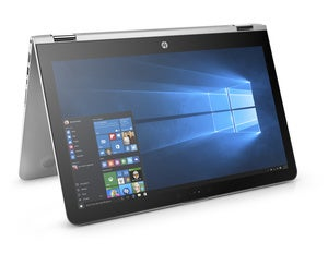hp envy x360 15.6 entertainment mode front right facing
