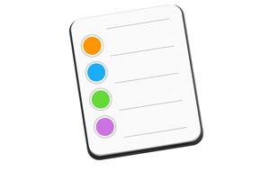 apple reminders mac icon