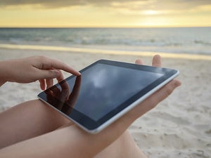 tablet beach summer