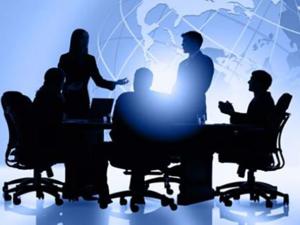 photo corporate executive board meeting evaluation