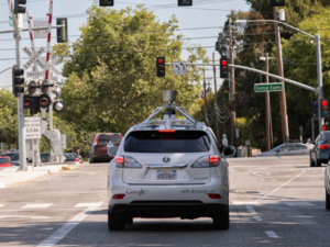 Google self-driving lexus