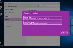 windows 10 reset pc remove everything