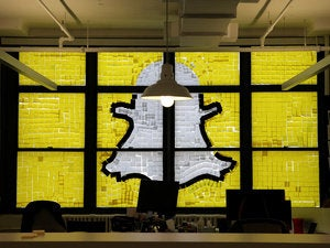 snapchat logo post it notes