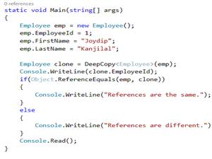 Object cloning in .NET