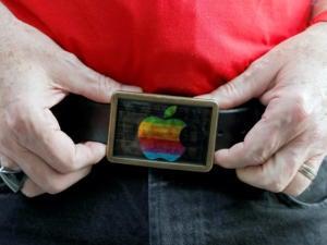 apple logo belt buckle fanboi