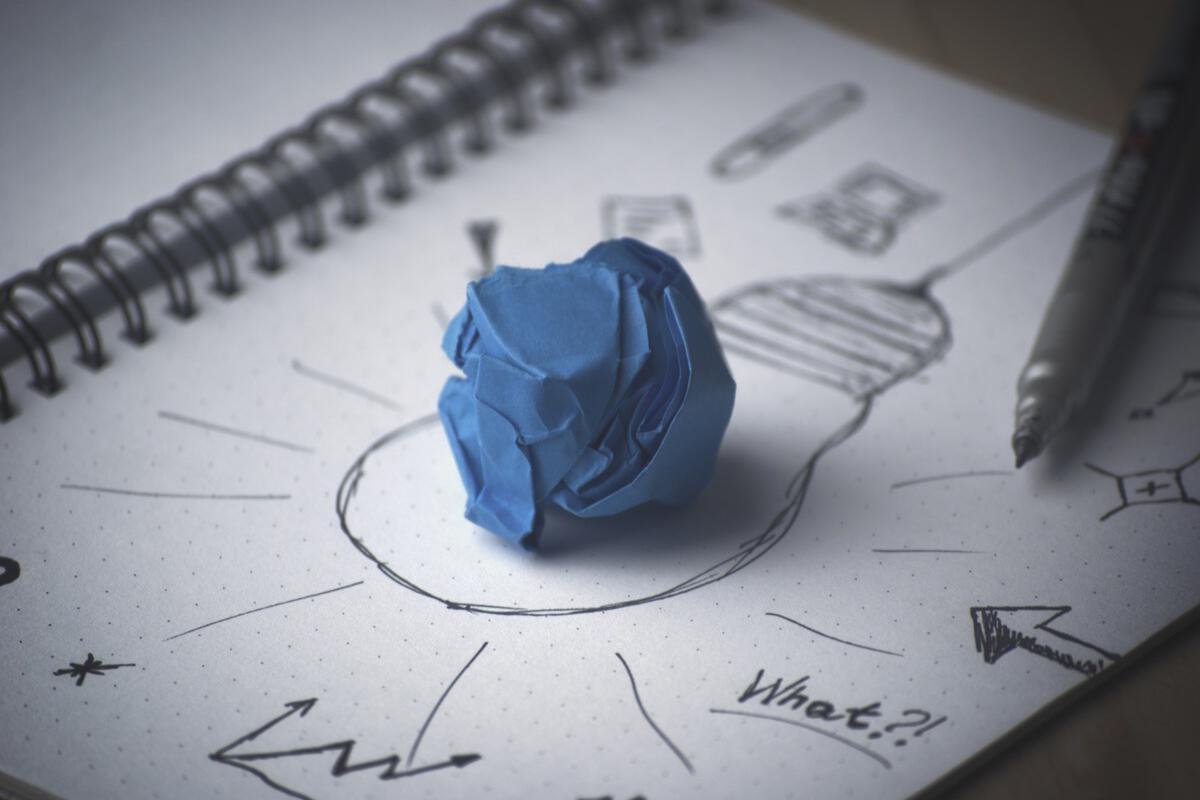 pen idea bulb paper innovation invention