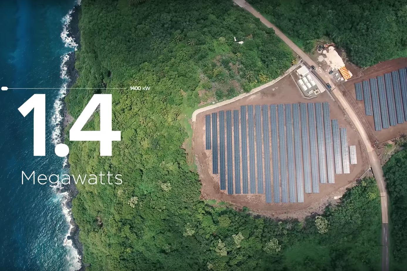 Tesla flips switch to power U.S. island entirely with solar energy
