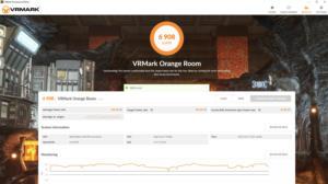 vrmark orange room result screen