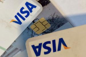 visa cards credit debit money