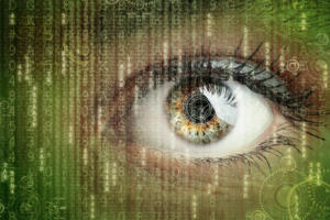 digital data surveillance eye