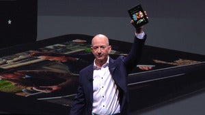 Bezos with the Kindle Fire